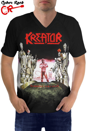 Camiseta Raglan Kreator Terrible Certainty ft