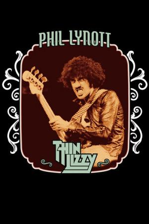 Camiseta Thin Lizzy - Phil Lynott