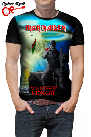 Camiseta Iron Maiden 2 Minutes To Midnight