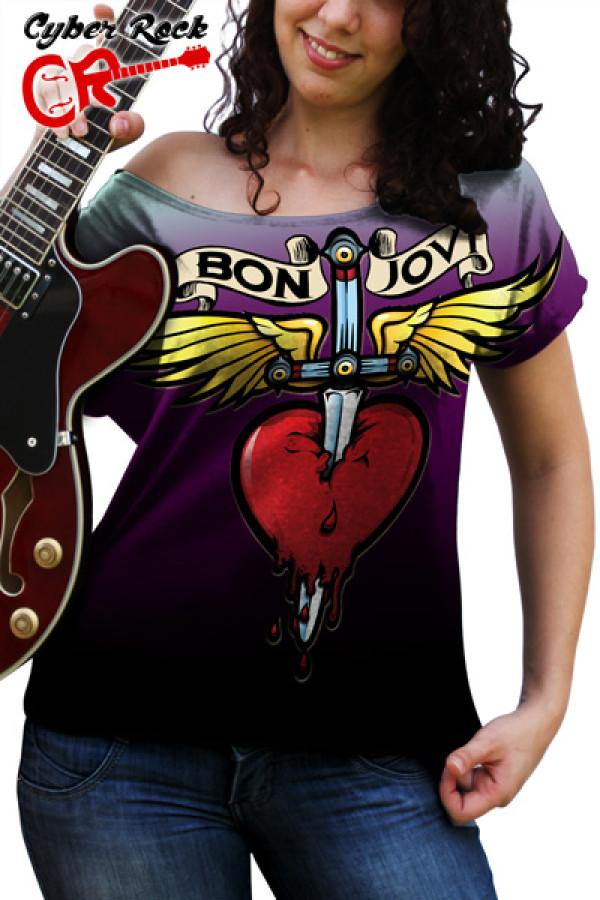 Blusinha Bon Jovi Logo Premium