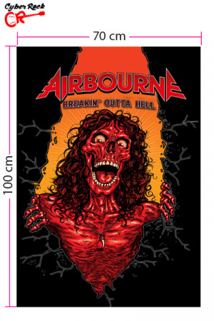 Bandeira Airbourne Breakin' Outta Hell