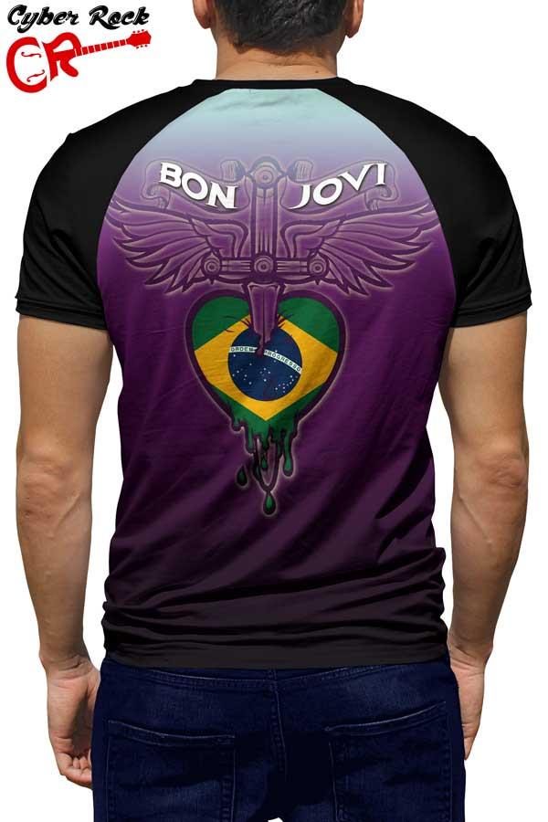 Raglan manga curta Bon Jovi