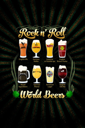 Camiseta Rock Beer Rock n Roll World Beers