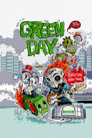 Camiseta Green Day Revolution Radio Tour