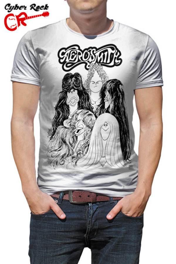 Camiseta Aerosmith Branco