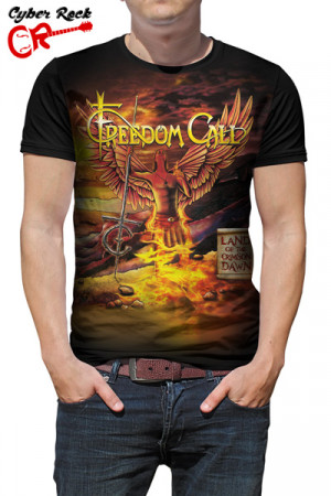 Camiseta Freedom Call Land of the Crimson Dawn