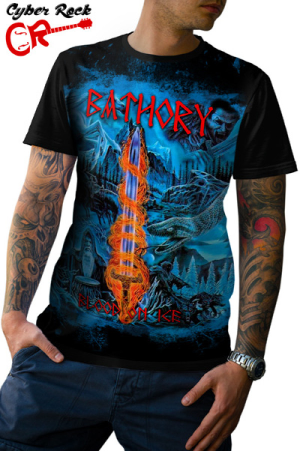 Camiseta Bathory Blood On Ice