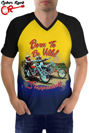 Raglan manga curta Steppenwolf Born to be wild fr