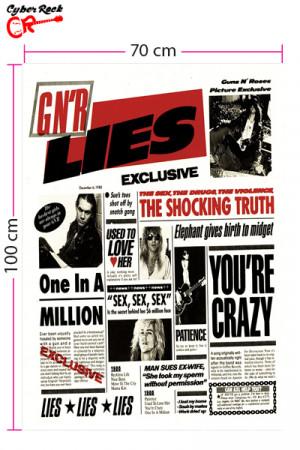 Bandeira Guns N Roses Lies