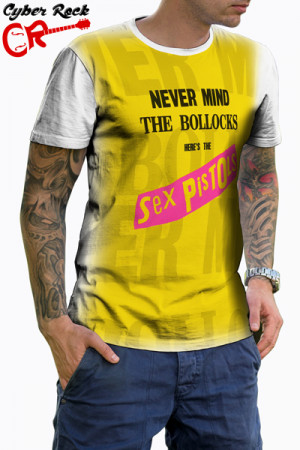 Camiseta Sex Pistols Never Mind the Bollocks Branca