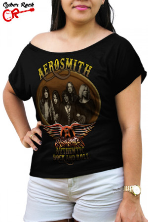 Blusinha Aerosmith Authentic Rock and Roll