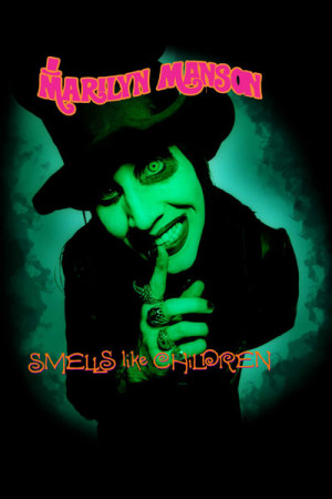 Arte Marilyn Manson-Smells like children
