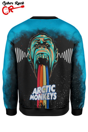 blusa moletom Arctic Monkeys costas