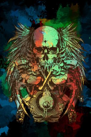 Camiseta Tatoo Eyes Guns and Bones