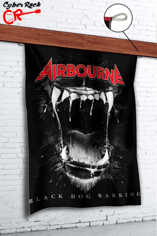 Bandeira Airbourne Black Dog Barking