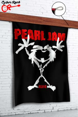 Bandeira Pearl Jam - Alive