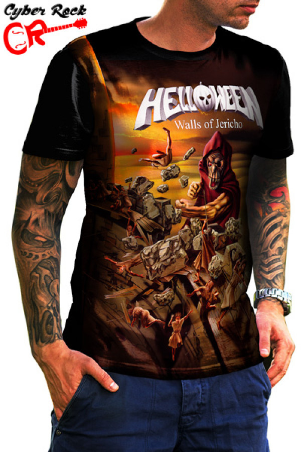 Camiseta Helloween Walls Of Jericho