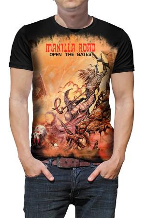 Camiseta Manilla Road Open the Gates