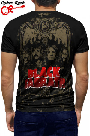 Camiseta Raglan Black sabbath manga curta