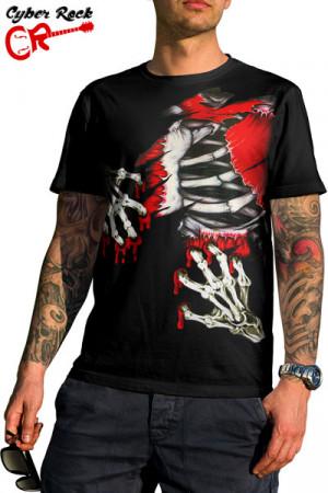 Camiseta Tatoo Blood Skull
