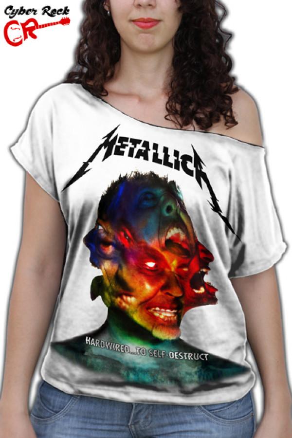 Blusinha  Metallica Hardwired Branco