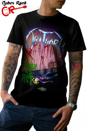 Camiseta Obituary Slowly We Rot