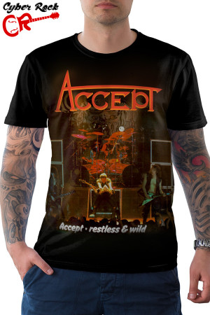 camiseta Accept Restless & Wild