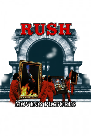 Camiseta Rush Moving Pictures Branca
