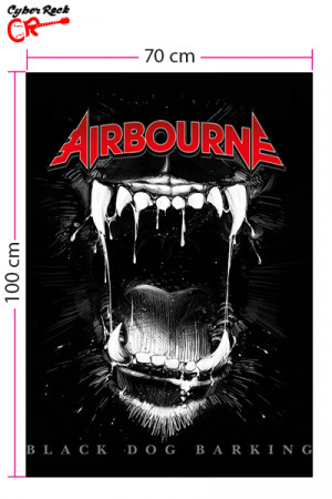 Bandeira Airbourne Black Dog Barking