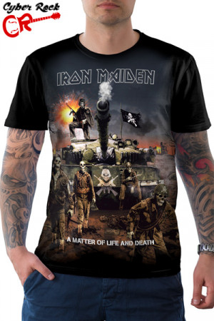 Camiseta Iron Maiden A Matter Of Life And Death
