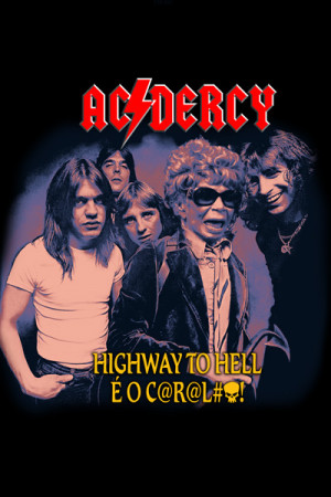 Capa Almofada Ac Dercy Highway to Hell