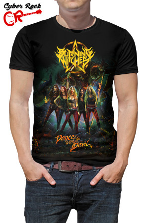Camiseta Burning Witches Dance with the Devil