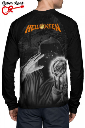 Camiseta Raglan Helloween Keeper of the seven keys Manga Longa