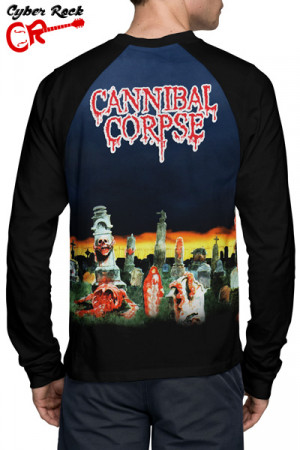 Camiseta Raglan  cannibal corpse Manga Longa