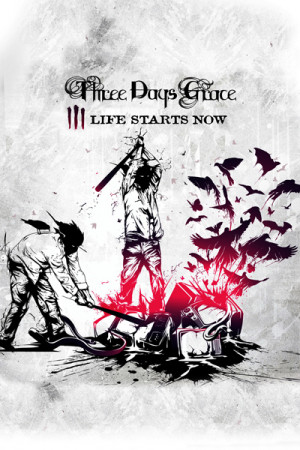 Camiseta Three Days Grace Life Starts Now