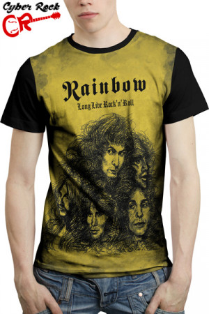 Camiseta Rainbow - Long Live Rock n Roll