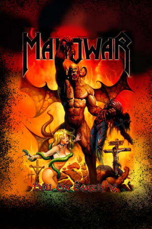 Camiseta Manowar Hell on Earth V