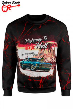 Blusa Moletom AC DC Highway to Hell