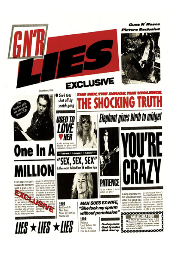 Camiseta-Guns N Roses-Lies