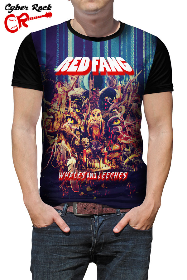 Camiseta Red Fang Whales and Leeches