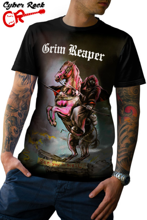 Camiseta Grim Reaper See You In Hell