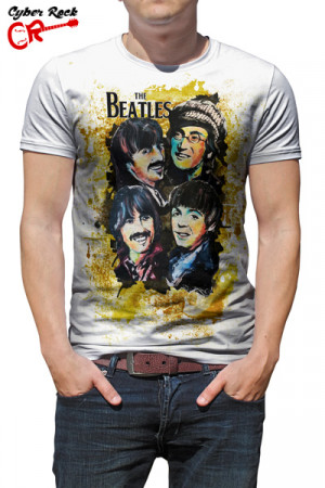 Camiseta The Beatles - Arte Cyber Rock