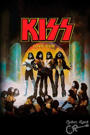 almofada banda Kiss Love Gun