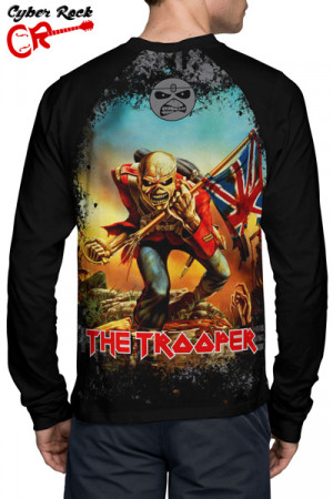 Camiseta manga longa Iron Maiden the Trooper