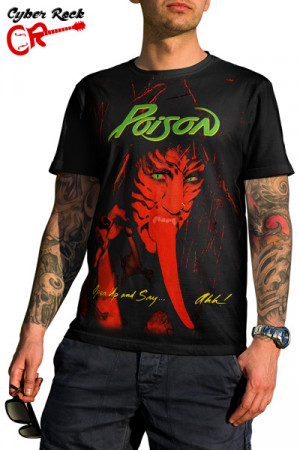Camiseta Poison Open Up And Say Ahh