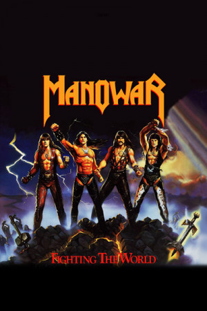 Camiseta Manowar Fighting the World