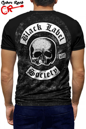 Camiseta Raglan Black Label Society manga curta
