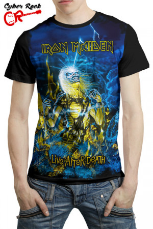 Camiseta Iron Maiden Live After Death