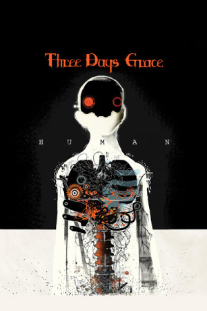 Camiseta Three Days Grace Human