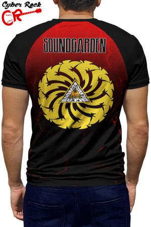 Camiseta Raglan Soundgarden Badmotorfinger manga curta
